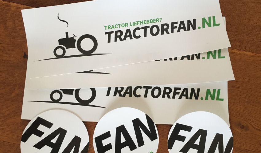 Onbekend Stickers Tractorfan