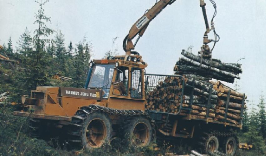 Valmet bosbouw harvester