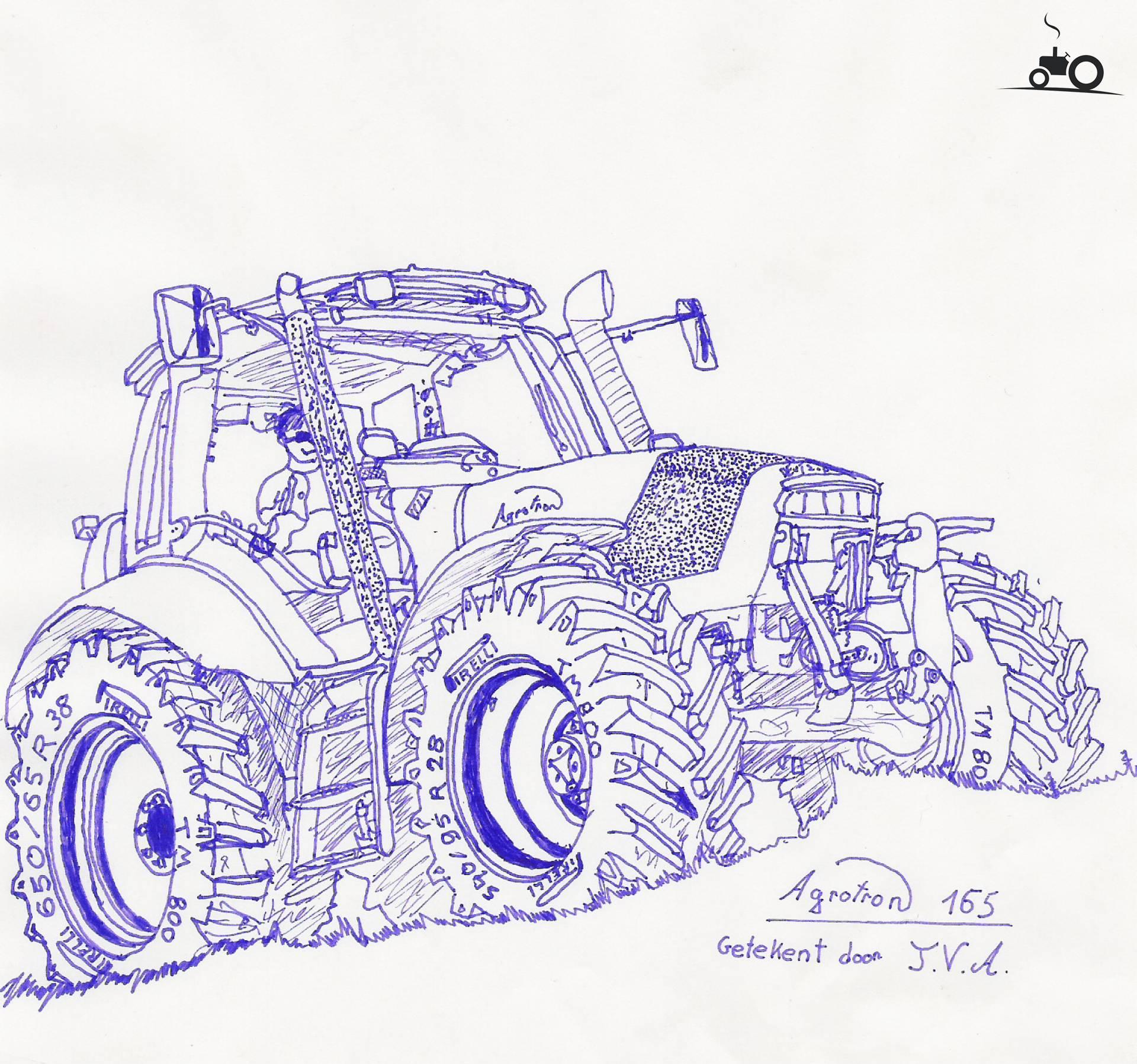 foto tractors tekening 74308
