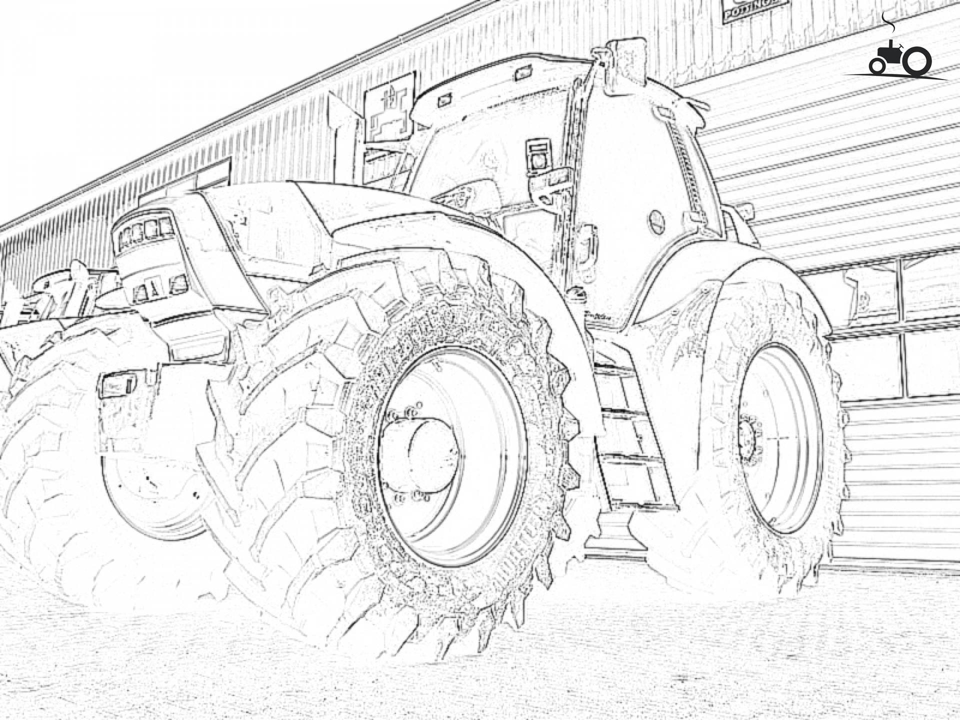 Kleurplaten Van Tractors.Kleurplaat Trekker Hakselaar Malvorlagen Daf Trucks Deutschland