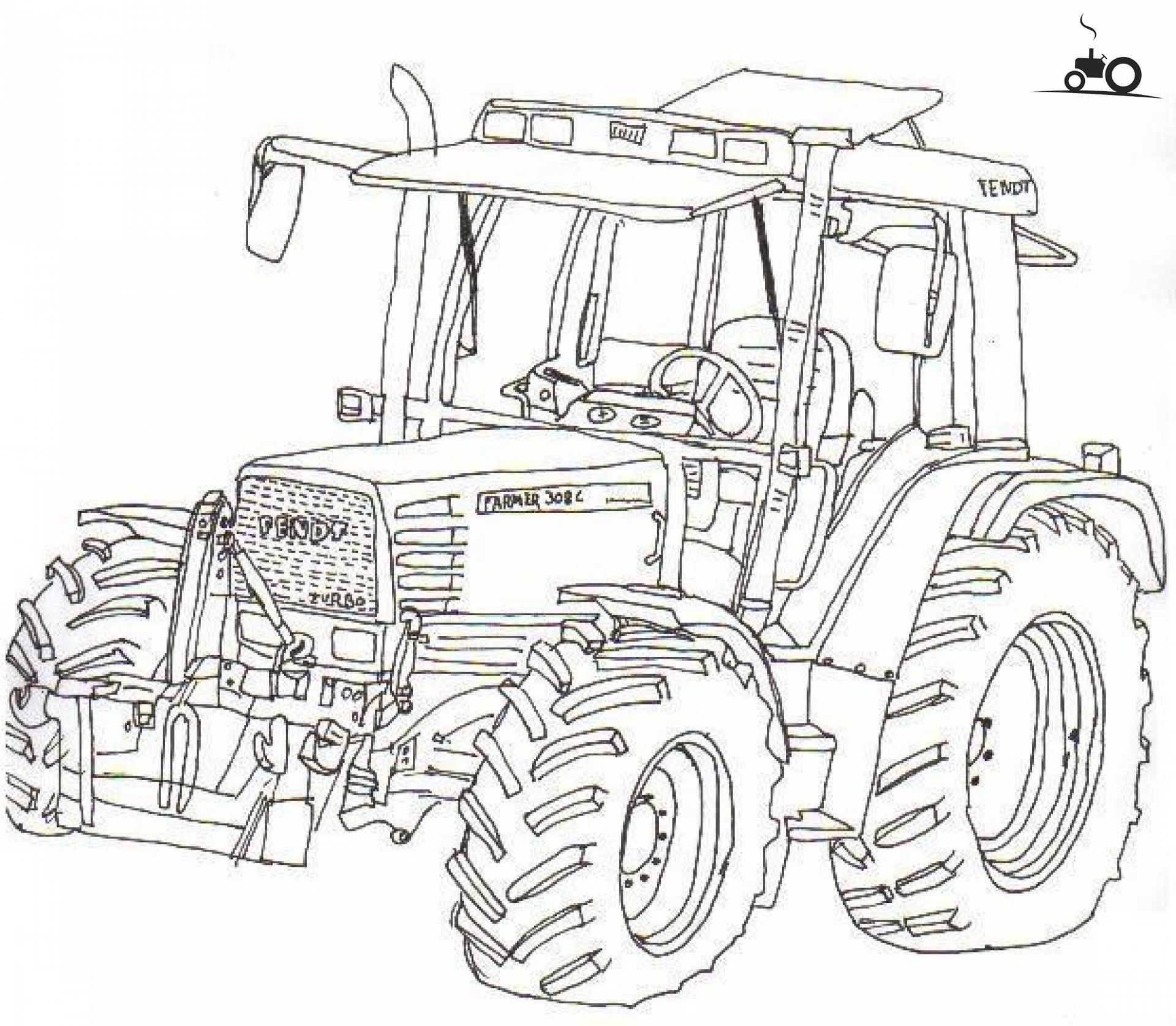 foto tractors tekening  25064
