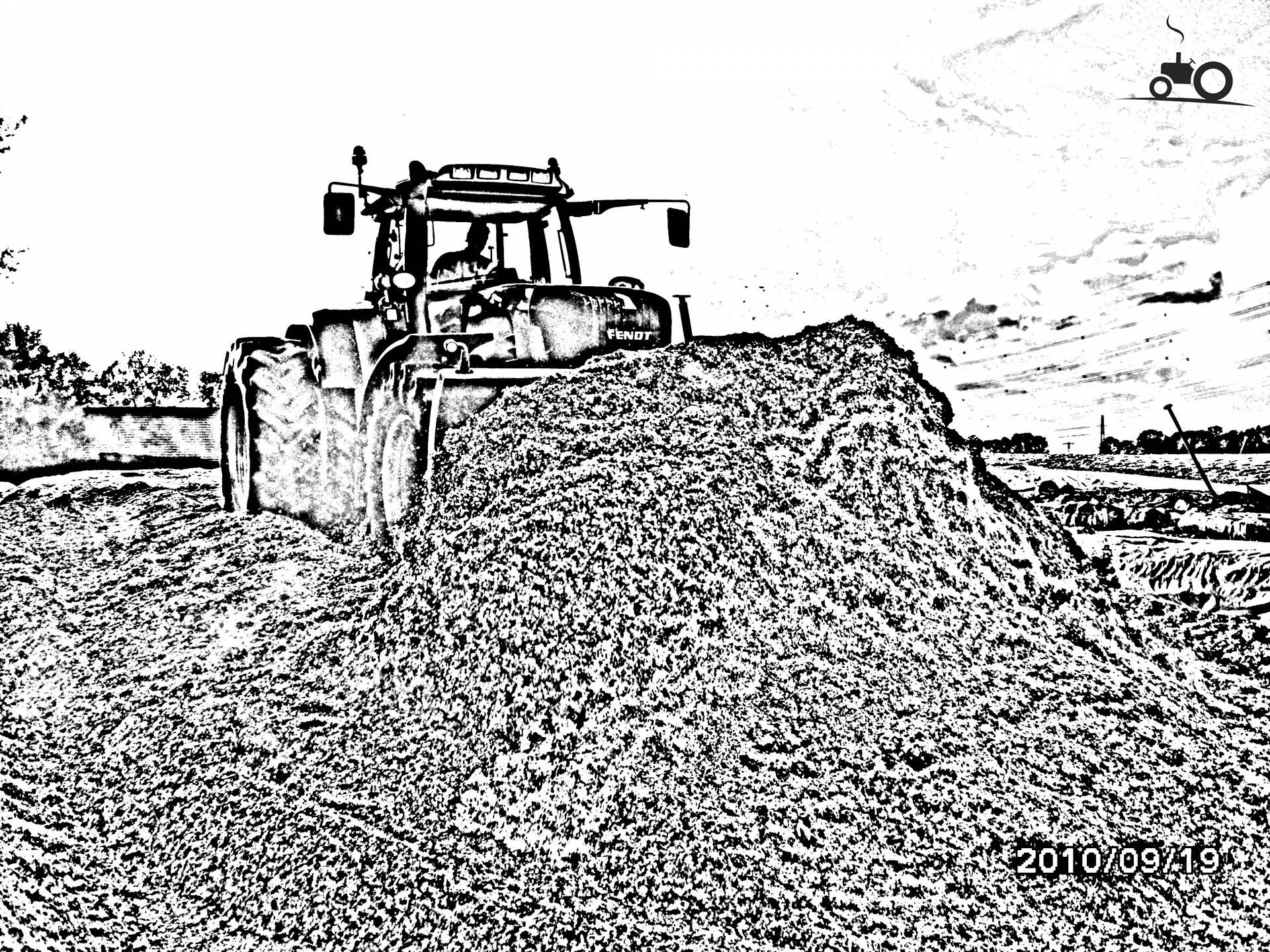 kleurplaat trekker hakselaar kleurplaten tractors
