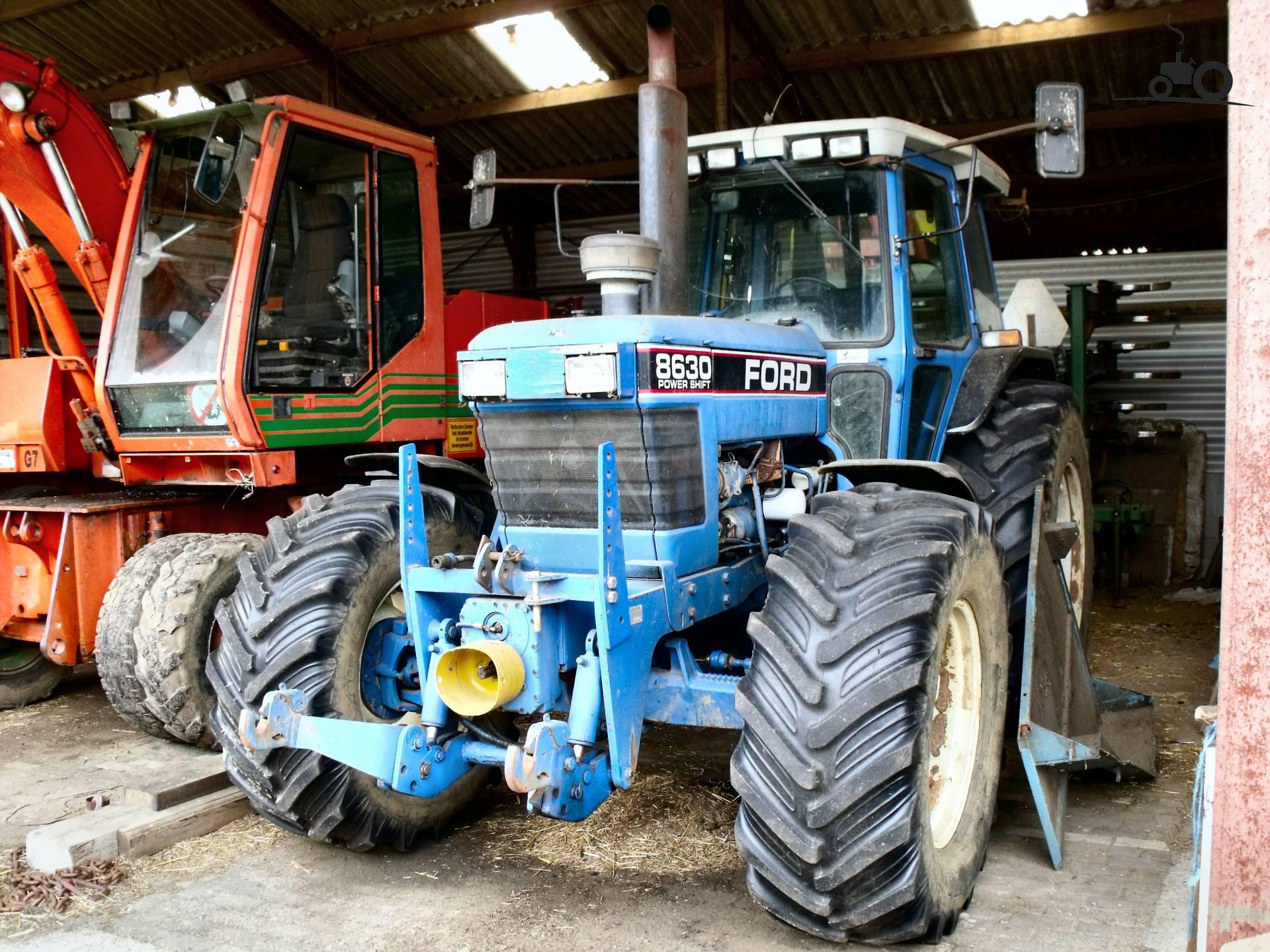 Трактор Ford 8630, 1990 года, 6000 часов, из Дании продан ...