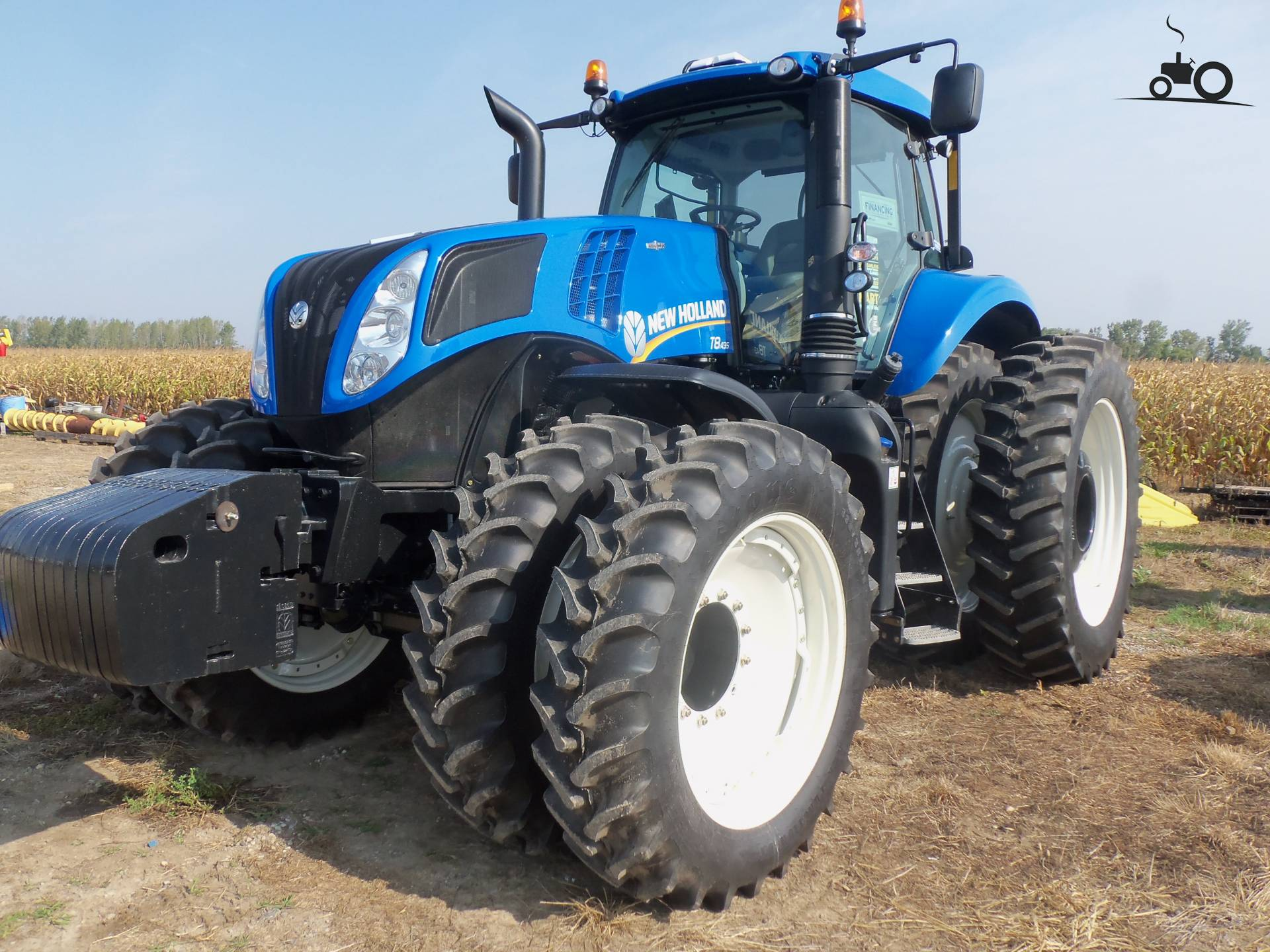 how to drive a new holland tractor