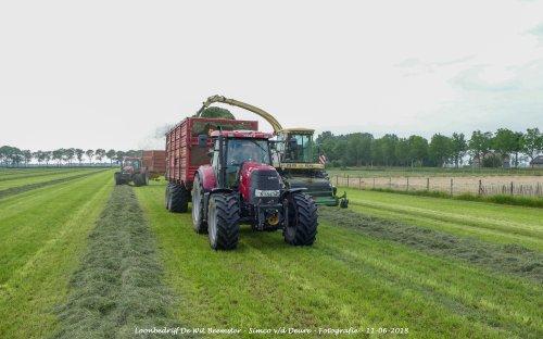 Case IH Puma 145 CVX van Loonbedrijf de Wit Beemster. Geplaatst door Simco vd Deure op 13-06-2018 om 11:27:15, op TractorFan.nl - de nummer 1 tractor foto website.