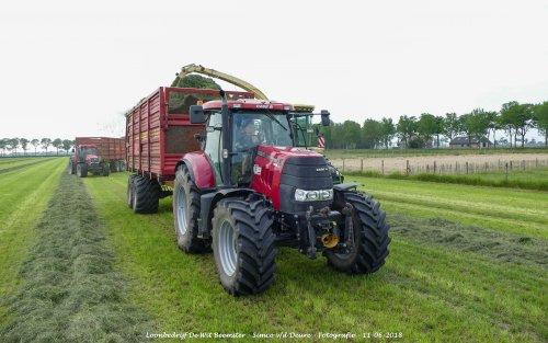 Case IH Puma 145 CVX van Loonbedrijf de Wit Beemster. Geplaatst door Simco vd Deure op 13-06-2018 om 11:27:19, op TractorFan.nl - de nummer 1 tractor foto website.
