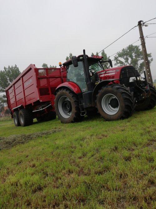 Wachten op de hakselaar... Case IH Puma 165 CVX met nieuwe DEWA 2-as tractiekar.. Geplaatst door Janssen656 op 12-07-2019 om 11:47:12, op TractorFan.nl - de nummer 1 tractor foto website.