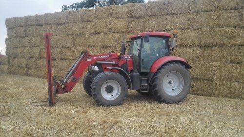 Foto van een Case IH Maxxum 115 Pro, druk bezig met Poseren.. Geplaatst door johndeerefavo op 27-08-2015 om 11:25:36, op TractorFan.nl - de nummer 1 tractor foto website.