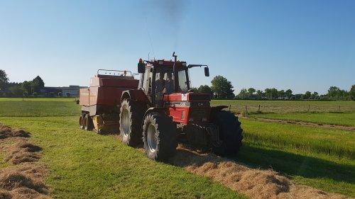gaat machtig met de 1455 voor de pers. Geplaatst door rubenv op 29-06-2019 om 20:15:17, op TractorFan.nl - de nummer 1 tractor foto website.
