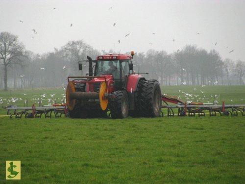 De Samenwerking BV met Case IH CVX 150, bezig met bemesten.  http://www.desamenwerkingbv.nl. Geplaatst door betten op 04-02-2009 om 10:01:34, op TractorFan.nl - de nummer 1 tractor foto website.