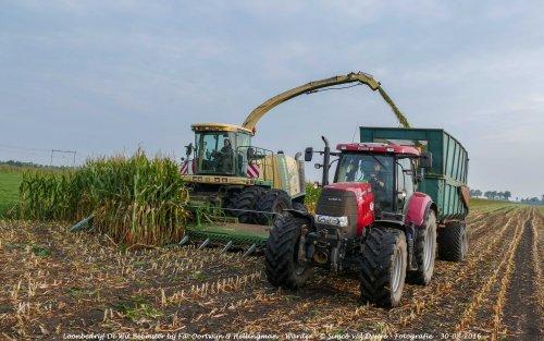 De Case IH Puma 160 CVX van Loonbedrijf de Wit Beemster druk in de mais!. Geplaatst door Simco vd Deure op 02-10-2016 om 13:02:38, op TractorFan.nl - de nummer 1 tractor foto website.