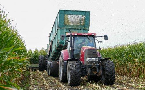 De Case IH Puma 160 CVX van Loonbedrijf de Wit Beemster druk in de mais!. Geplaatst door Simco vd Deure op 02-10-2016 om 13:02:47, op TractorFan.nl - de nummer 1 tractor foto website.