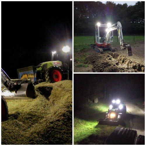 Led werkverlichting op tractoren en een minikraan. Geplaatst door Werkenbijlicht op 05-02-2017 om 13:36:14, op TractorFan.nl - de nummer 1 tractor foto website.
