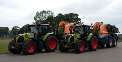 Claas Arion 640 van allis man
