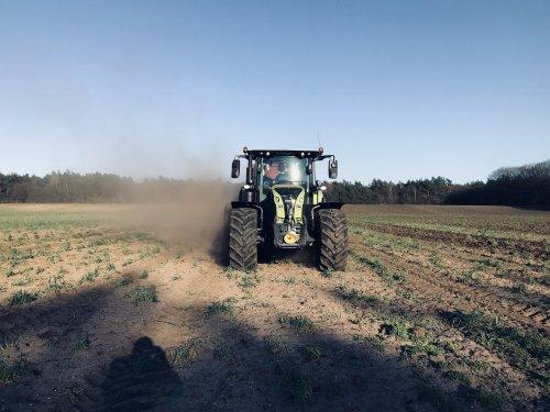 Genieten in het zonnetje met een mooie Arion 660. Geplaatst door worteljcb op 01-04-2019 om 19:07:53, op TractorFan.nl - de nummer 1 tractor foto website.