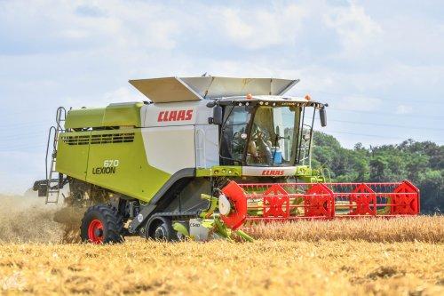 Foto van een Claas Lexion 670. Geplaatst door jd7920 op 08-08-2020 om 20:13:02, op TractorFan.nl - de nummer 1 tractor foto website.