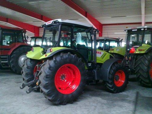 Claas Axos 330 CX van IH power in dk