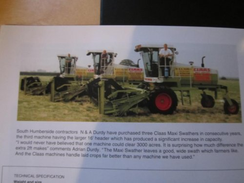Claas Maxi Swather  Wallpaper