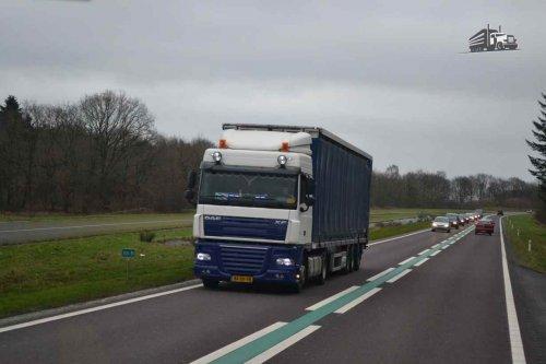 DAF XF105 van truckspotterhgk