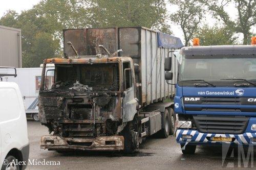 Foto van een DAF CF serie, opgebouwd voor containertransport.. Geplaatst door Alex Miedema op 08-10-2014 om 23:54:41, op TractorFan.nl - de nummer 1 tractor foto website.