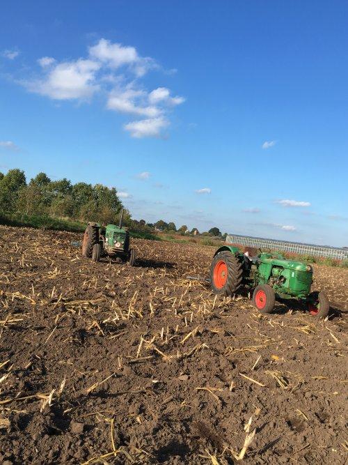 Foto van een Deutz D50 en Deutz D6006 maisland los trekken 💪🏻. Geplaatst door Deutz-d25 op 23-11-2017 om 20:03:00, met 2 reacties.