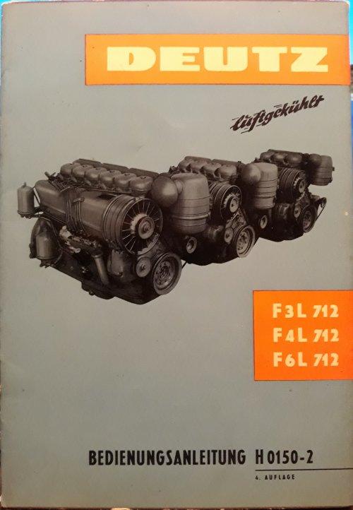 Foto van een originele Deutz gebruikershandleiding van de F3, 4 & 6L712. Voor bij de Kramer 😉 Was nooit hier naar op zoek maar kwam hem toevallig tegen. In de Kramer U800 gebruikershandleiding word hiernaar ook verwezen als je informatie nodig had over de motor.