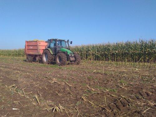 Foto van een Deutz-Fahr Agrotron 100. Geplaatst door JoranK op 06-12-2017 om 21:16:32, op TractorFan.nl - de nummer 1 tractor foto website.