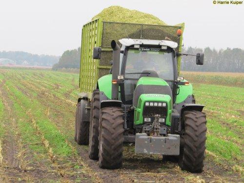 Foto van een Deutz-Fahr Agrotron X 720 , Nieuw-Weerdinge 14-10-2017. Geplaatst door oldtimergek op 07-12-2017 om 11:47:24, op TractorFan.nl - de nummer 1 tractor foto website.