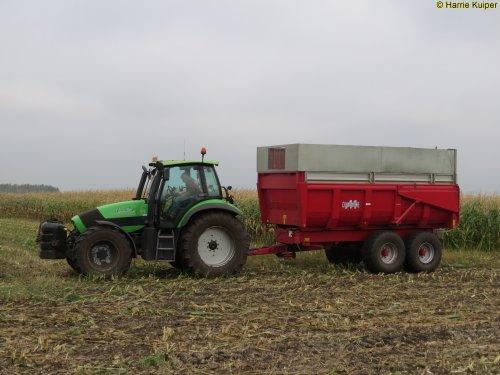 Foto van een Deutz-Fahr Agrotron 150.7   , Nieuw-Weerdinge 14-10-2017. Geplaatst door oldtimergek op 07-12-2017 om 11:47:29, op TractorFan.nl - de nummer 1 tractor foto website.