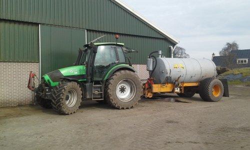 Foto van een Deutz-Fahr Agrotron 130. Geplaatst door dobbe op 12-04-2018 om 11:10:48, op TractorFan.nl - de nummer 1 tractor foto website.