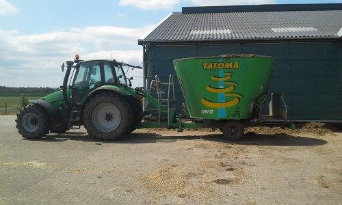 Foto van een Deutz-Fahr Agrotron 115. Geplaatst door dobbe op 16-07-2018 om 17:52:11, op TractorFan.nl - de nummer 1 tractor foto website.
