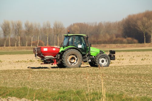 Foto van een Deutz-Fahr Agrotron 115. Geplaatst door alfredo op 26-02-2019 om 16:10:29, op TractorFan.nl - de nummer 1 tractor foto website.