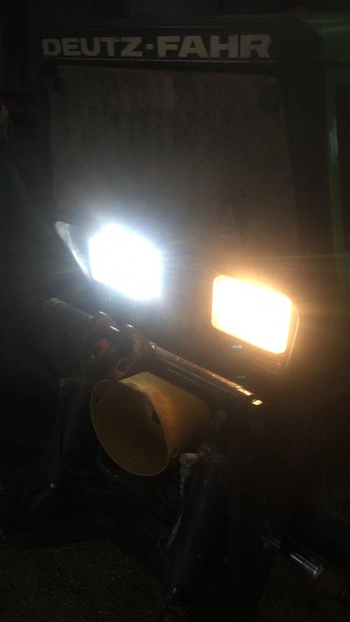 Foto van een Deutz-Fahr Agrostar 6.31, maar eens kijken wat de h4 led voor extra zicht bieden gaat dit voorjaar