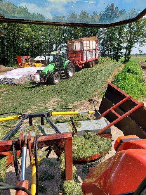 Foto van een Deutz-Fahr Agrotron 115 aan het taaruppen 💪. Geplaatst door deutz dx 610 op 03-07-2021 om 15:15:56, op TractorFan.nl - de nummer 1 tractor foto website.