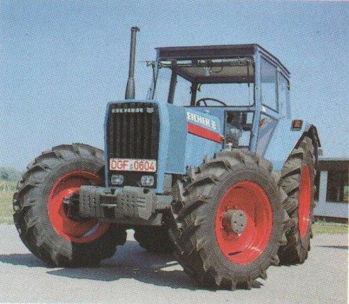 Foto van een Eicher 3108 Elsbett uit de folder. Voor een andere topic had ik 2 folders gescand, deze bijzondere tractor wou ik jullie ook niet onthouden, daarom heb de folder ook nog ingescand.