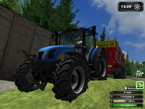 Foto van een Farming Simulator New Holland, bezig met gras inkuilen.. Geplaatst door Kees Fahr op 26-08-2011 om 19:59:23, met 2 reacties.