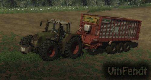 Foto van een Farming Simulator Fendt, bezig met gras inkuilen.. Geplaatst door vin fendt op 30-08-2011 om 17:10:48, met 11 reacties.