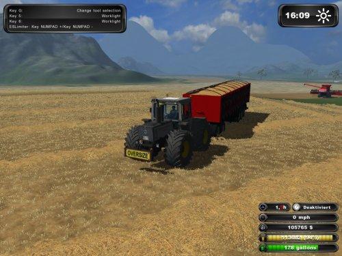 Foto van een Farming Simulator Case Internationaal, bezig met poseren. even verplaatsen naar MB trac