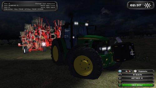Foto van een Farming Simulator john deere, bezig met gras harken.. Geplaatst door DB_jansen op 08-12-2011 om 21:14:01, met 4 reacties.