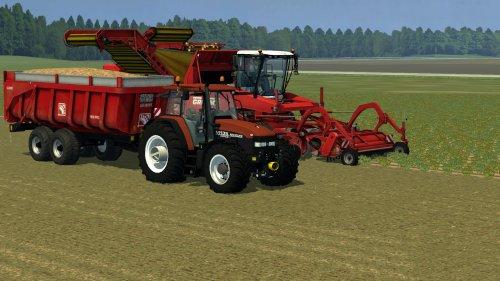 Foto van een Farming Simulator New Holland, bezig met aardappels rooien.. Geplaatst door zetordrivertimo op 11-01-2013 om 22:47:07, met 9 reacties.