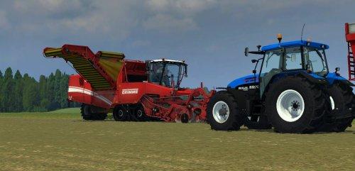 Foto van een Farming Simulator New Holland, bezig met aardappels rooien. Geplaatst door zetordrivertimo op 11-01-2013 om 22:47:41, met 32 reacties.