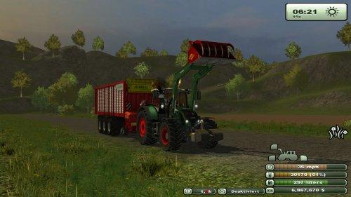 Een Fendt 724, Bezig met gras rijden. In farming simulator 2013. Geplaatst door StefanZ op 12-02-2013 om 20:14:07, met 5 reacties.