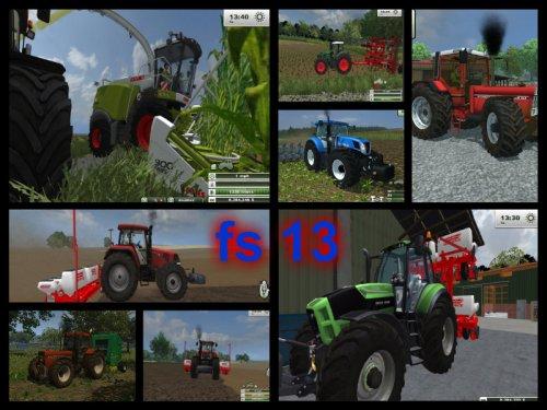 collage van farming simulator 2013 mijn tractoren ;)case ih cvx 175,new holland,case international,deutz fahr ttv 7250,fendt939...