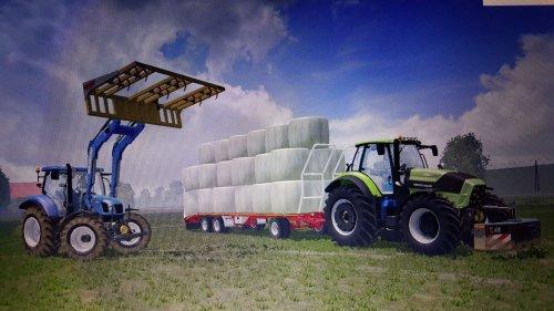 Foto van een Farming Simulator Meerdere, bezig met balen halen.. Geplaatst door larsio1994 op 15-09-2015 om 22:56:28, met 3 reacties.