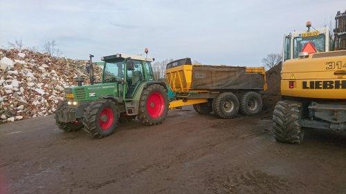 Foto van een Fendt 308 Holland Farmer dag grond en puin transport gedaan ging mooi. Geplaatst door jesperb op 29-12-2016 om 21:27:32, op TractorFan.nl - de nummer 1 tractor foto website.