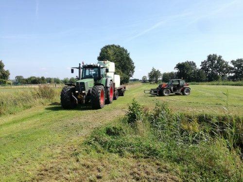 Op deze foto is Mts. J en C De Kruijf (Leusden) × actief met een Fendt 916.. Geplaatst door CHALLENGERfan op 22-08-2019 om 15:16:58, op TractorFan.nl - de nummer 1 tractor foto website.