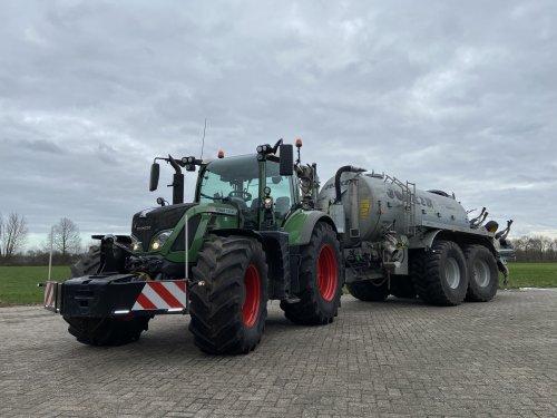 Foto van een Fendt 724. Klaar voor mestseizoen 2020. Geplaatst door Nick421 op 15-02-2020 om 18:20:51, op TractorFan.nl - de nummer 1 tractor foto website.