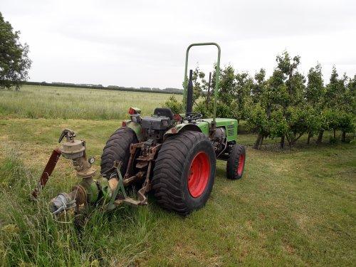 Foto van een Fendt 203 V met rovatti beregeningspomp.. Geplaatst door marcel-pek op 24-05-2020 om 16:12:55, op TractorFan.nl - de nummer 1 tractor foto website.