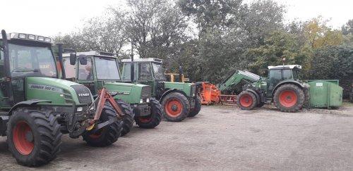 Foto van een diverse fendt tractoren bij het mechanisatie bedrijf.. Geplaatst door fendt-farmer op 29-10-2020 om 22:25:43, op TractorFan.nl - de nummer 1 tractor foto website.