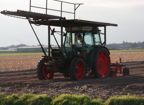 Foto van een Fendt 260 S, bezig met beddenvlakken in noordwijkerhout.. Geplaatst door warmerbros op 05-10-2010 om 19:29:57, op TractorFan.nl - de nummer 1 tractor foto website.
